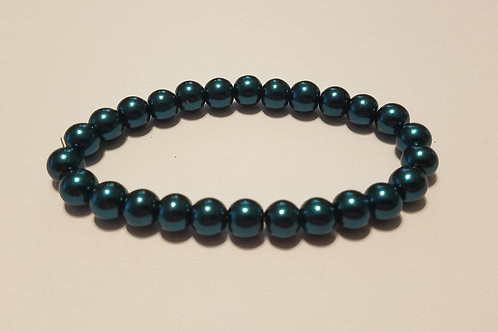 Teal Glass Pearls