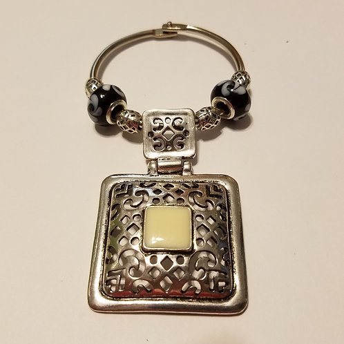 Fancy Square Scarf Ring