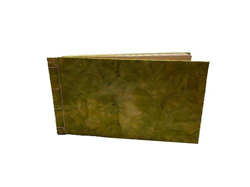 Green Tie-dye Watercolor Journal