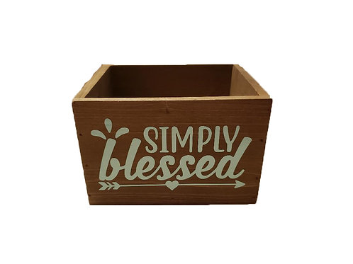Wood Box - Simply Blessed