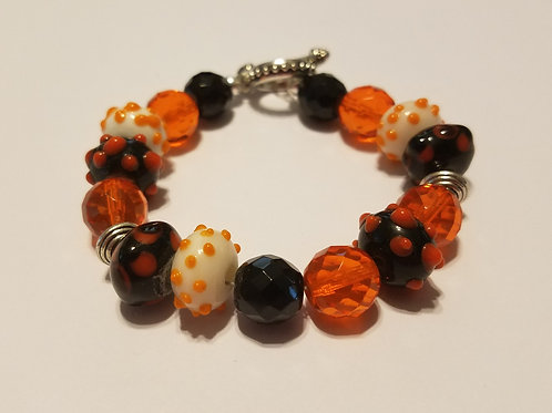 Black and Orange Glass