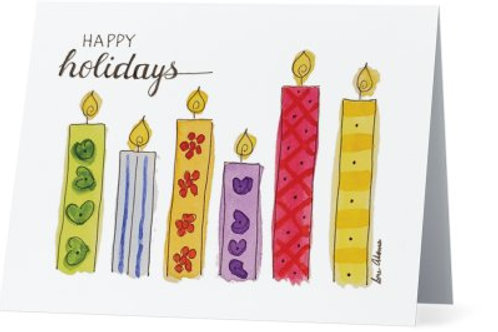 Christmas Candles Note Card Set of 10