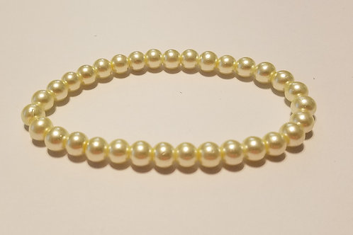 Ivory-colored Glass Pearls