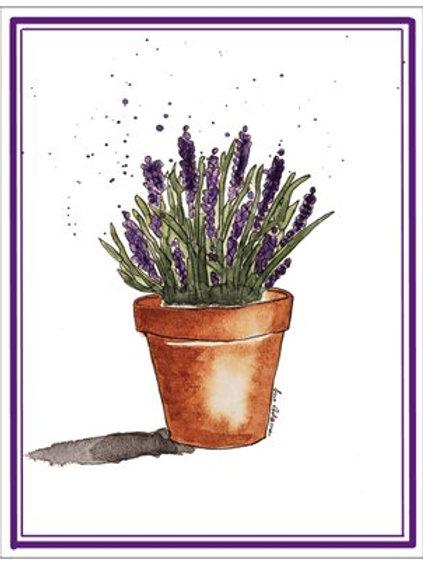 Lavender Note Card Set of 10