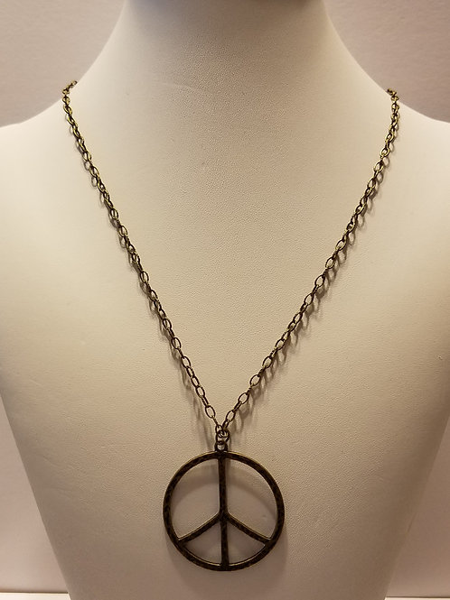 Antique Brass Peace Sign