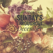 We're OPEN every Sunday throughout Decem