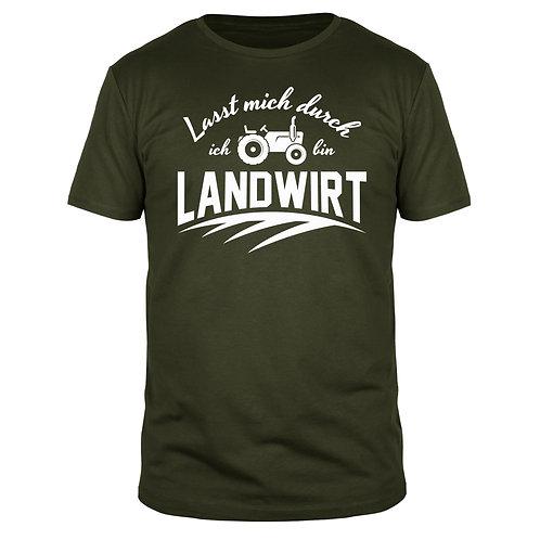 Lasst mich durch ich bin Landwirt - Männer T-Shirt