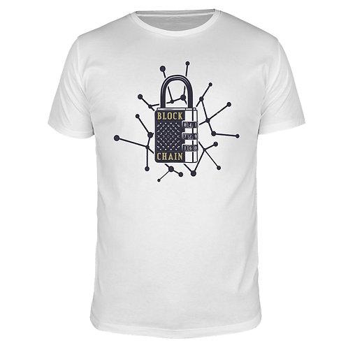 Blockchain Lock - Männer T-Shirt