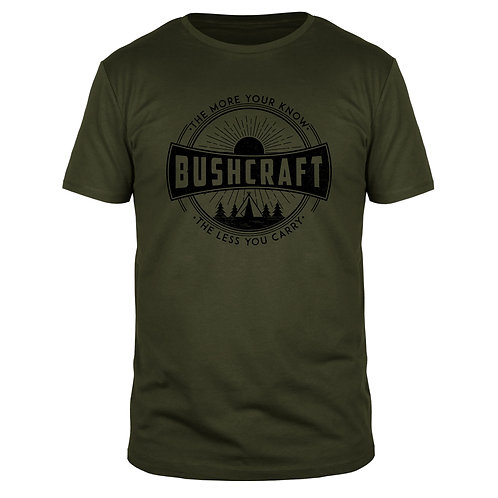 Bushcraft the more you know  - Männer T-Shirt