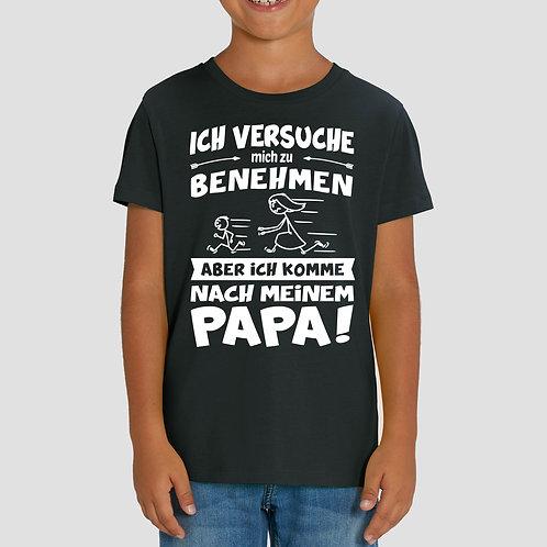Ich versuche mich zu benehmen - Kinder T-Shirt