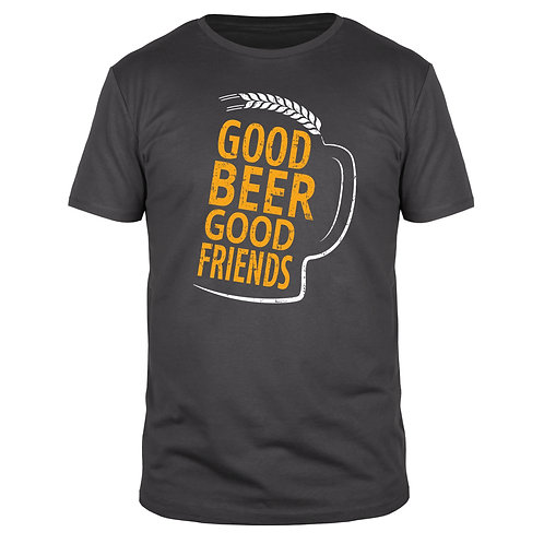 Good Beer Good Friends - Männer T-Shirt