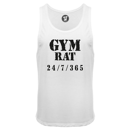 Gym Rat 24 / 7 / 365  - Männer Deep Cut Tank Top