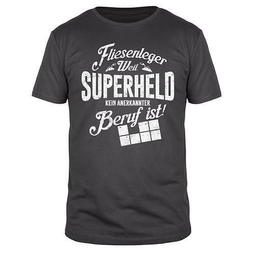 Fliesenleger Superheld - Männer T-Shirt