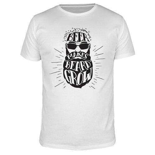 Beer makes beard grow - Männer T-Shirt