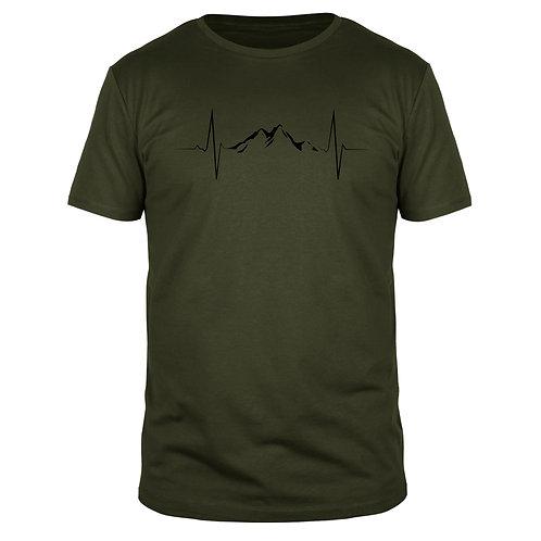 Berge Herzschlag - Männer T-Shirt