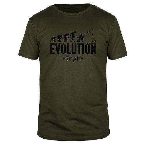 Evolution Angeln - Männer T-Shirt
