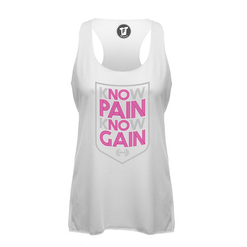 Know Pain Know Gain - Frauen Fitness Tank Top