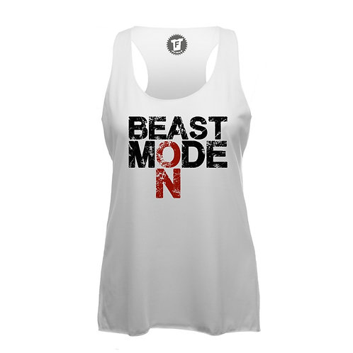 Beast Mode on - Frauen Fitness Tank Top