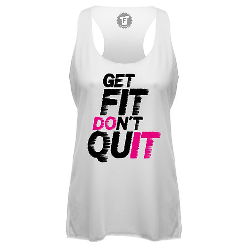 Get fit don´t quit - Frauen Fitness Tank Top