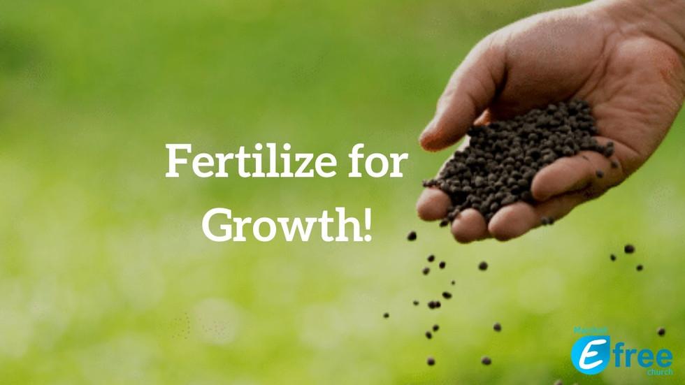 Fertize for Growth - God's Word & Prayer
