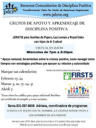 flyer PDCR PAJARO LAS LOMAS_ feb-abril 2
