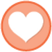 heart in circle icon