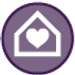 heart in house icon