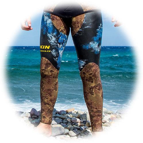 C4 Pantalon Refendu - Lisse + Insertions en refendu - Lycra CAMO
