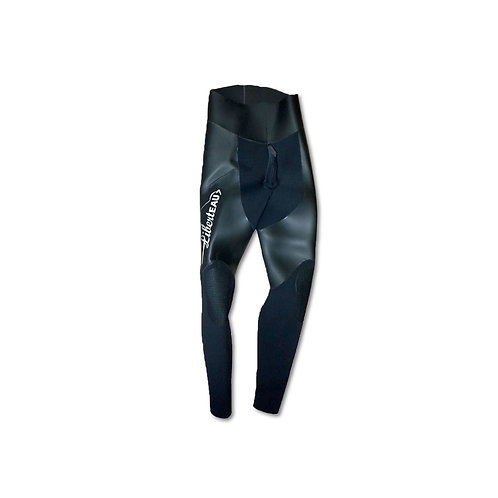 C2 Pantalon Refendu - Lisse + insertions en refendu - Lycra NOIR