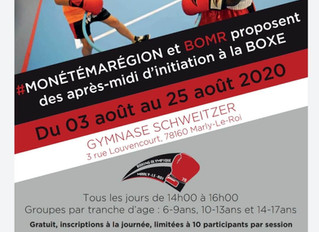 ♦ Après-midi d'initiation à la boxe du 3 au 25 août 2020 | Gymnase Schweitzer | 78160 Marly-le-R
