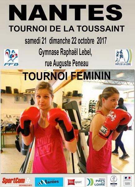 Affiche Tournoi féminin de la Toussaint à Nantes - 21/10/2017