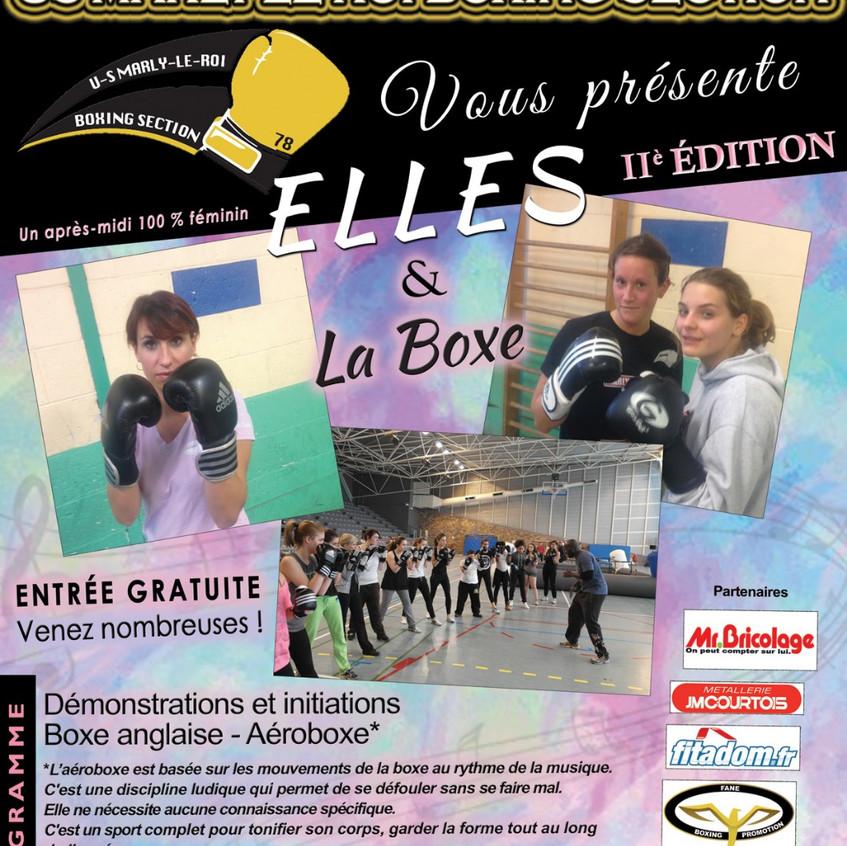 Affiche Elles & la Boxe II° Edition