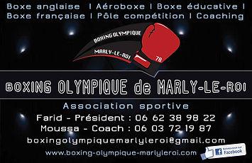 Vcard du Boxing Olympique de Marly-le-Roi