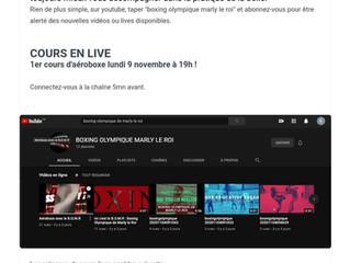♦ Lundi 9 novembre, les cours en live avec BOMR sur YouTube !