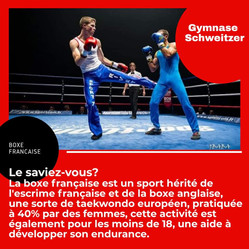 ♦ La pratique de la boxe française au BOMR