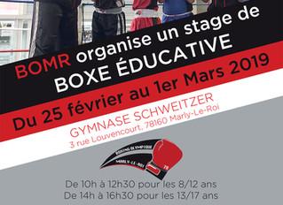 ♦ Stage de boxe éducative BOMR | Du 25 février au 1er mars 2019