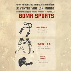 ♦ S'entraîner avec BOMR Sports