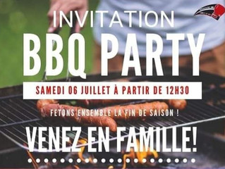 ♦ Samedi 6 juillet 2019 | BBQ Party de fin de saison sportive !