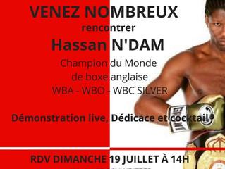 ♦ Hassan Ndam ne sera pas présent Jeudi 15/07/2020 mais Dimanche 19/07/2020 à 14h00 pour une intervi