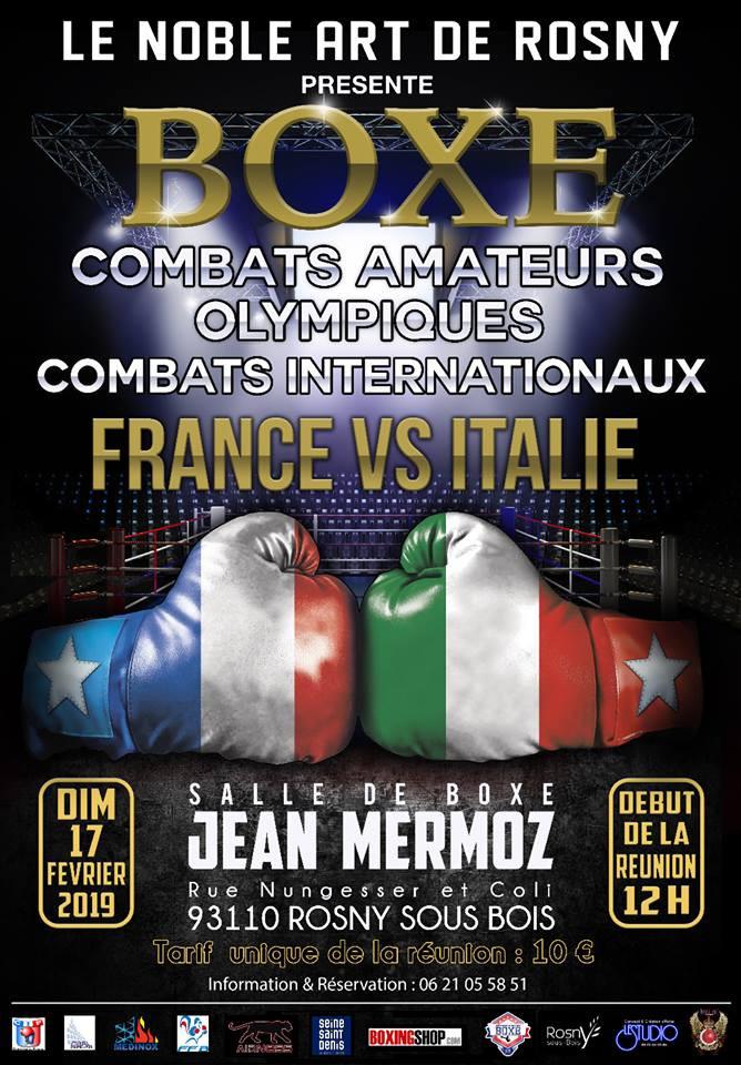 Dimanche 17 février à 12h00   France vs Italie