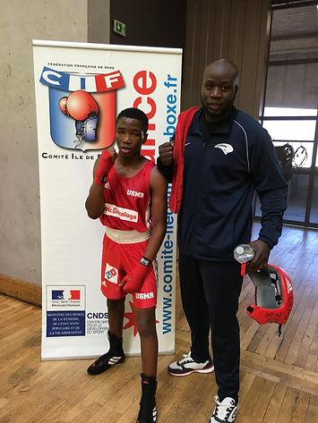 Guessouma et le coach Moussa