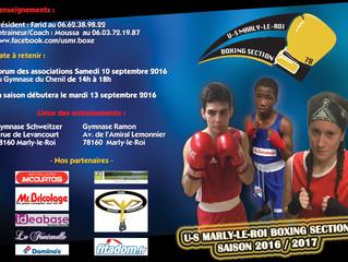 ♦ Samedi 10 septembre 2016 - Forum des Associations au gymnase du Chenil de 14H à 18H à Marly-le-Roi