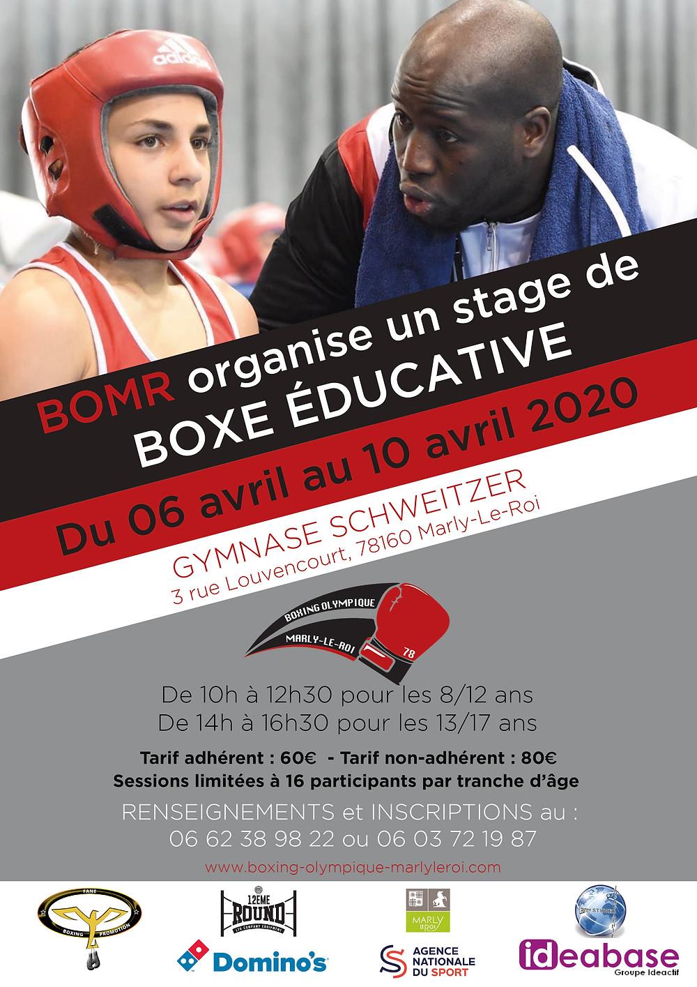 Stage de boxe éducative BOMR | Du 25 février au 1er mars 2019