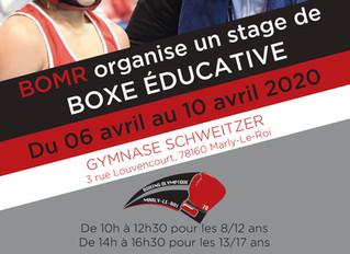 ♦ Stage de boxe éducative BOMR | Du 6 au 10 avril 2020