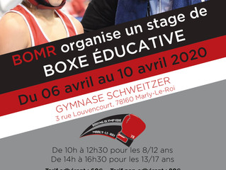 ♦ Stage de boxe éducative BOMR | Du 6 au 10 avril 2020