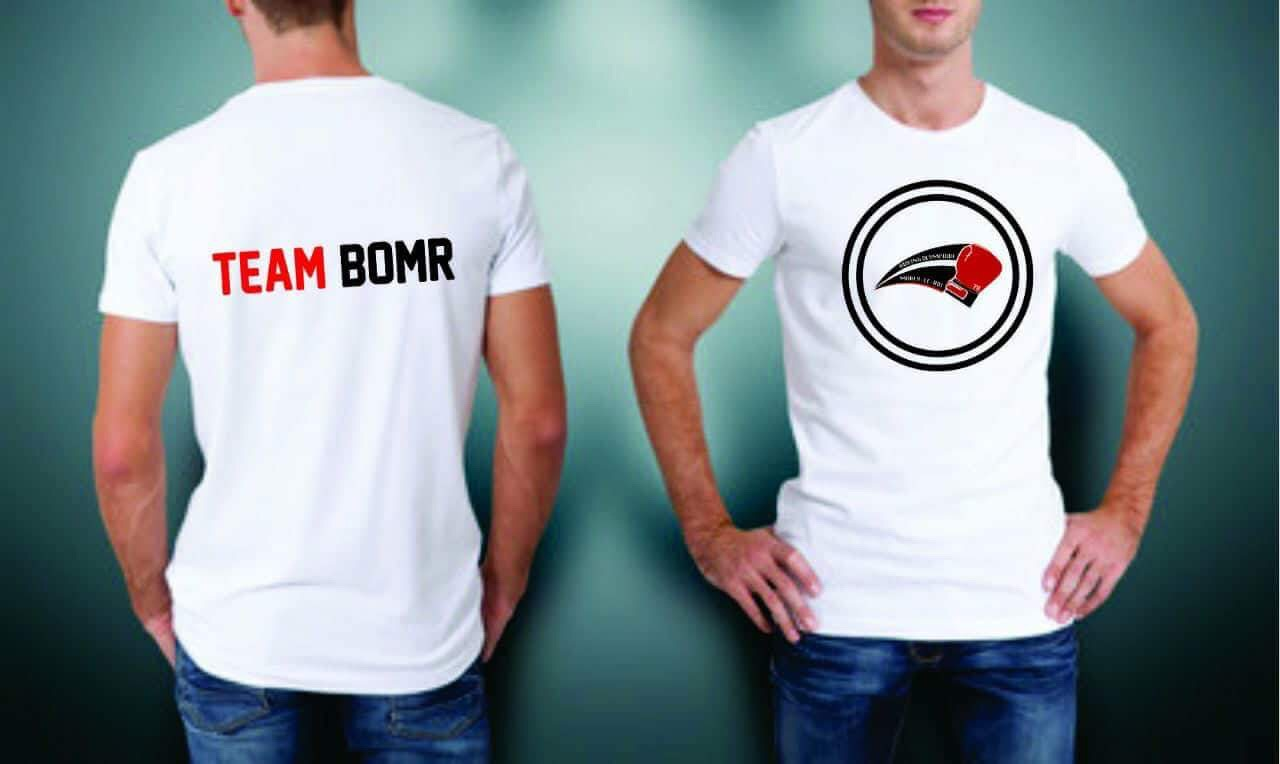 Face & dos T-shirts BOMR blancs