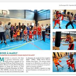 ♦ Bel article dans la Chronique de Marly suite à notre événement de l'été, la venue de Hassam Ndam