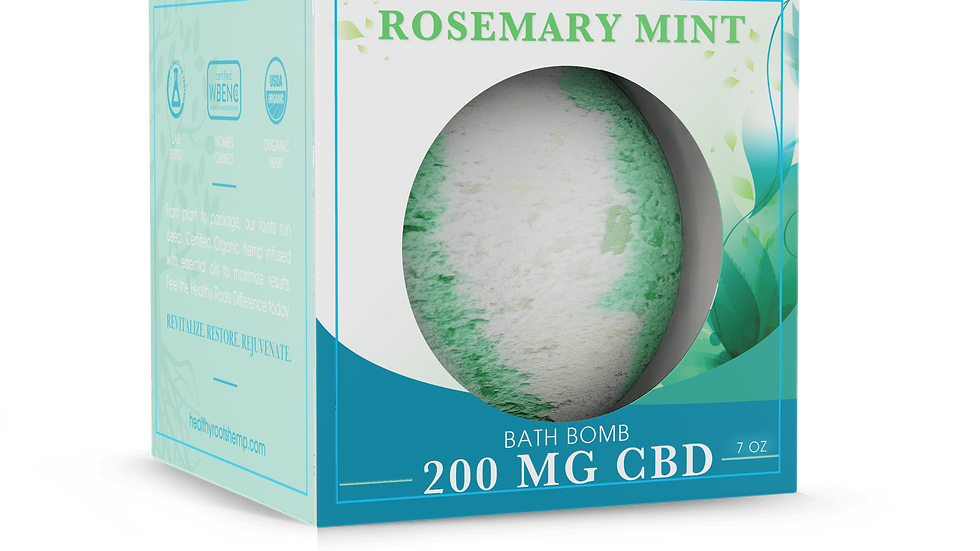 Stay Rooted CBD Bath Bomb Peppermint And Rosemary 200mg