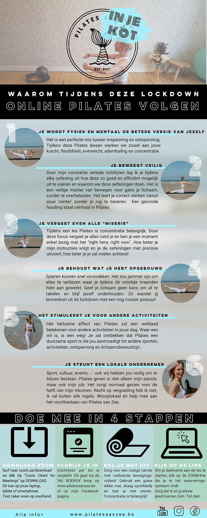 Pilates online oostende infograpic zoom