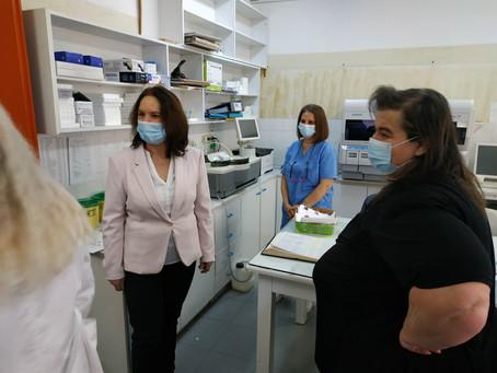 Επίσκεψη στο εμβολιαστικό κέντρο Κοζάνης